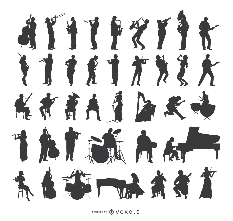 Musician Silhouettes set
