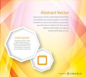 Modelo de capa abstrata brochura amarela