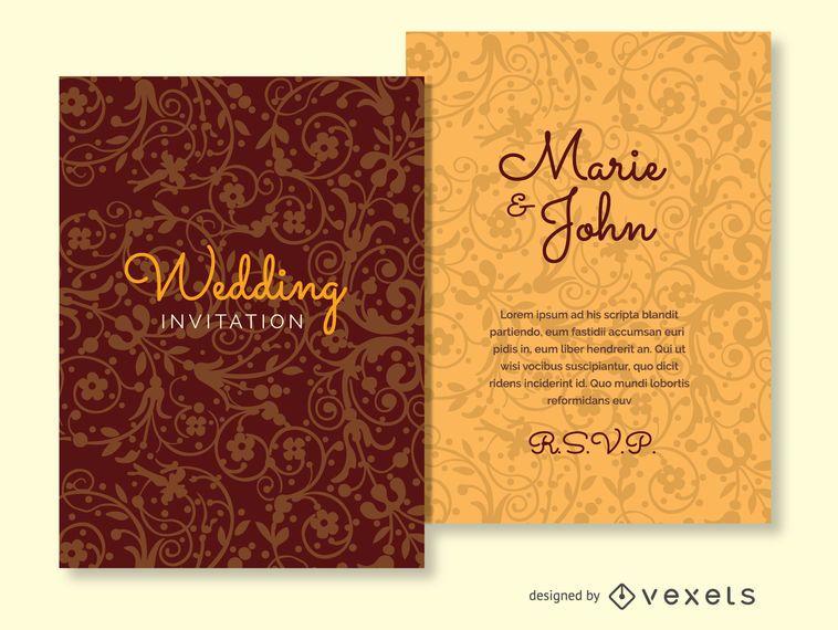 Wedding invitation ornamented