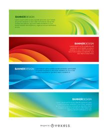 4 banners abstractos