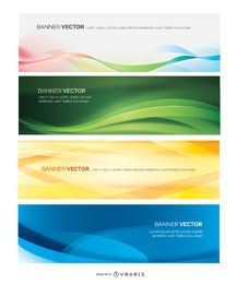 Colorful Abstract banner set