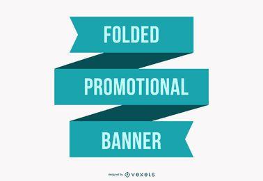 Banner promocional plano dobrado