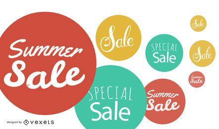 Fundo de bolhas de venda de verão