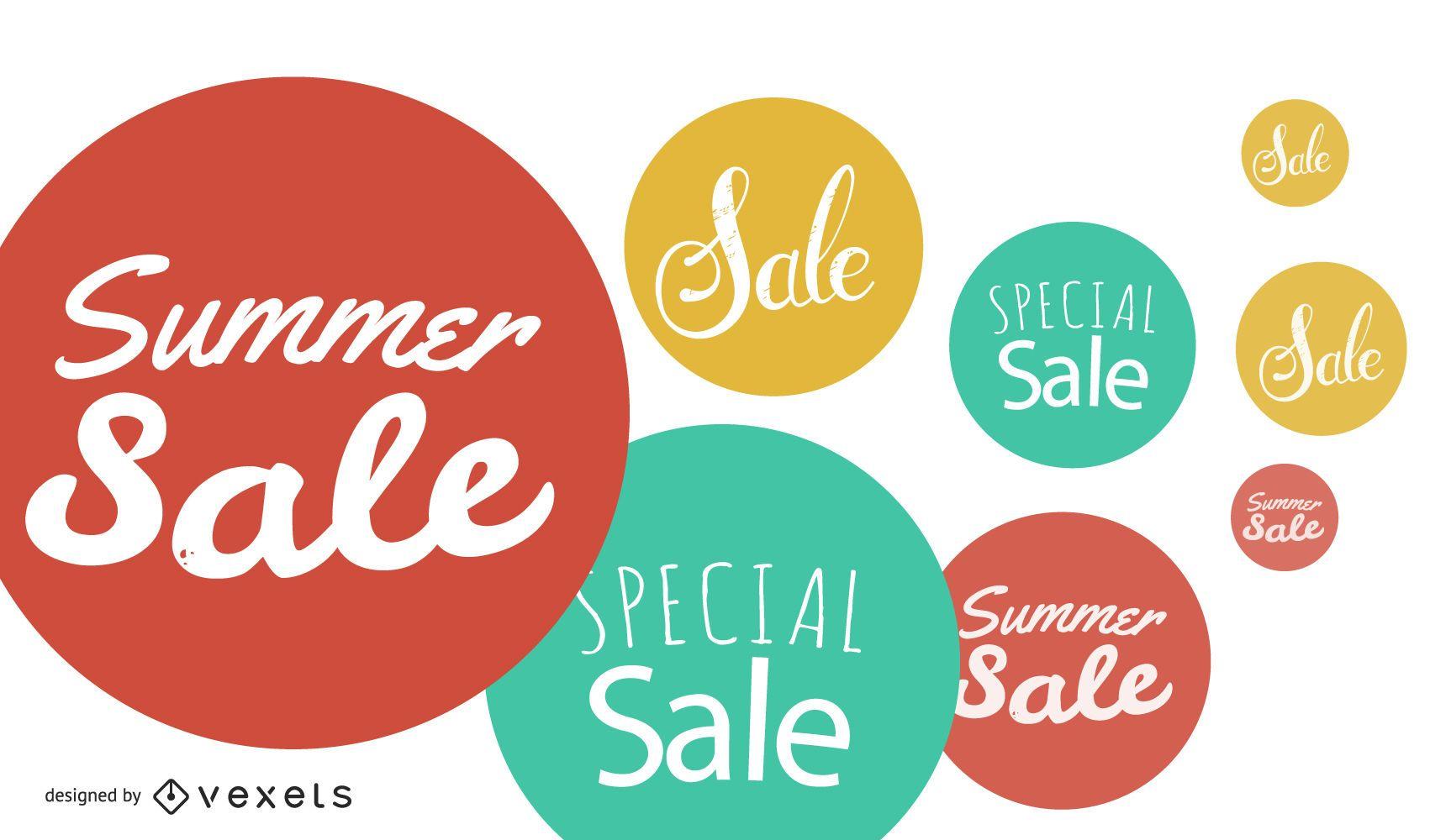 Summer Sale Bubbles Background