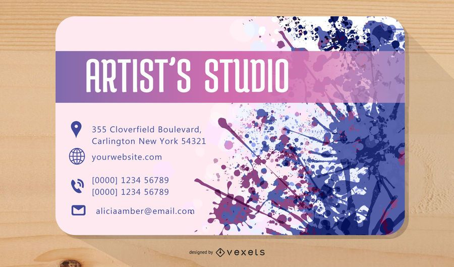 Colorful Splatters Artist Business Card