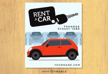 Alugar um cartaz de carro