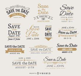 Speichern Sie die Datumsembleme