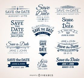 Boda Save the date badges