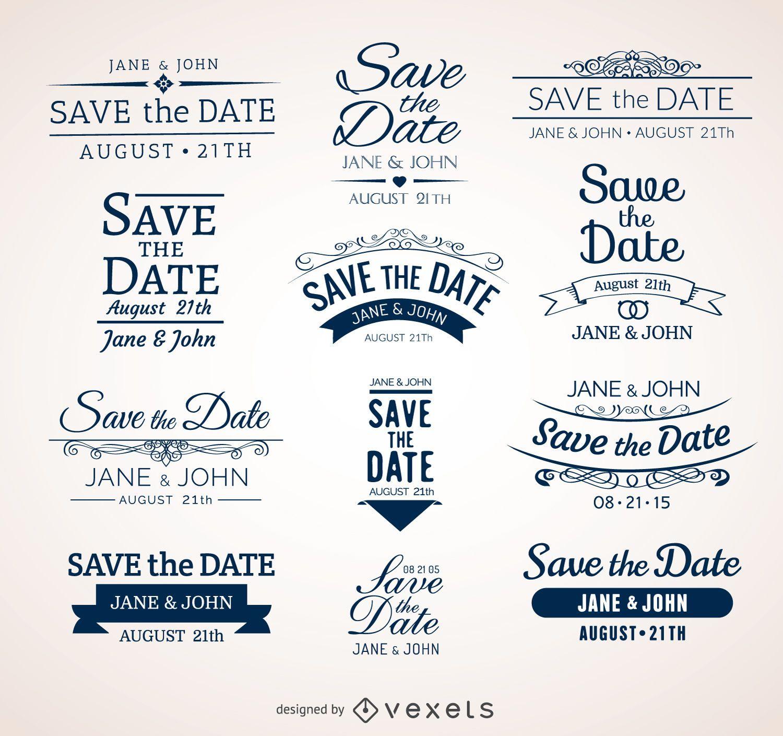 Crachás para salvar a data de casamento