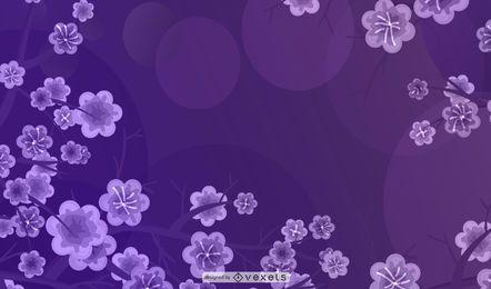 Fondo de flor de flores de colores