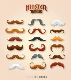 Colección de bigotes hipster