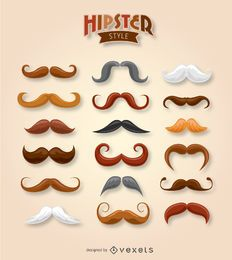 Hipster moustache collection