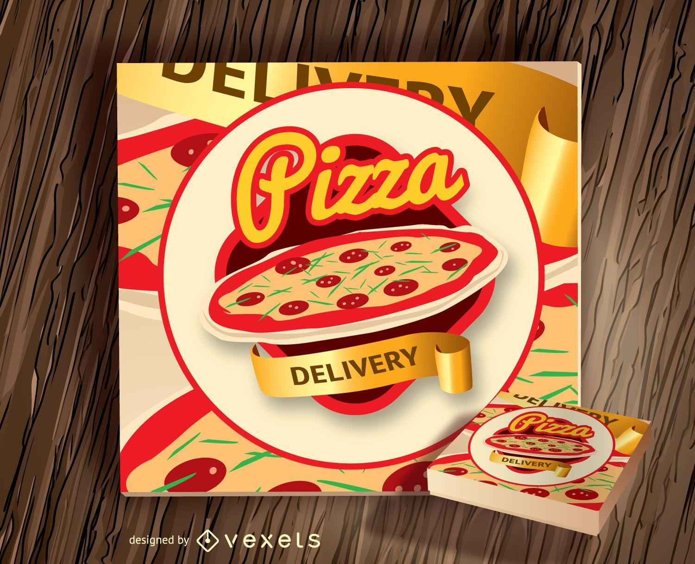 Logotipo de la caja de pizza