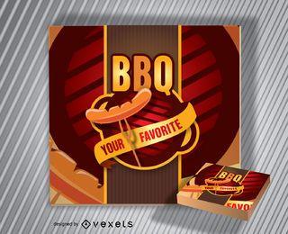 Logotipo de barbacoa BBQ