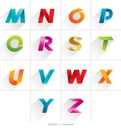 Letras de logotipo de la M a la Z