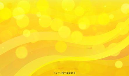Fondo brillante de la onda de Bokeh amarillo
