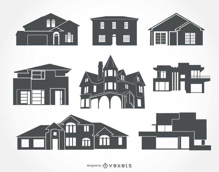 Colección de siluetas de la casa
