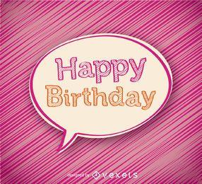 Bolha feliz aniversário