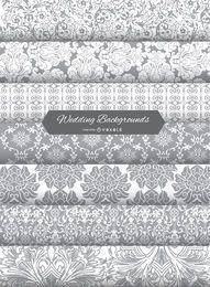 Invitación de boda de fondo patrones