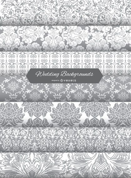 wedding invitation background patterns vector download