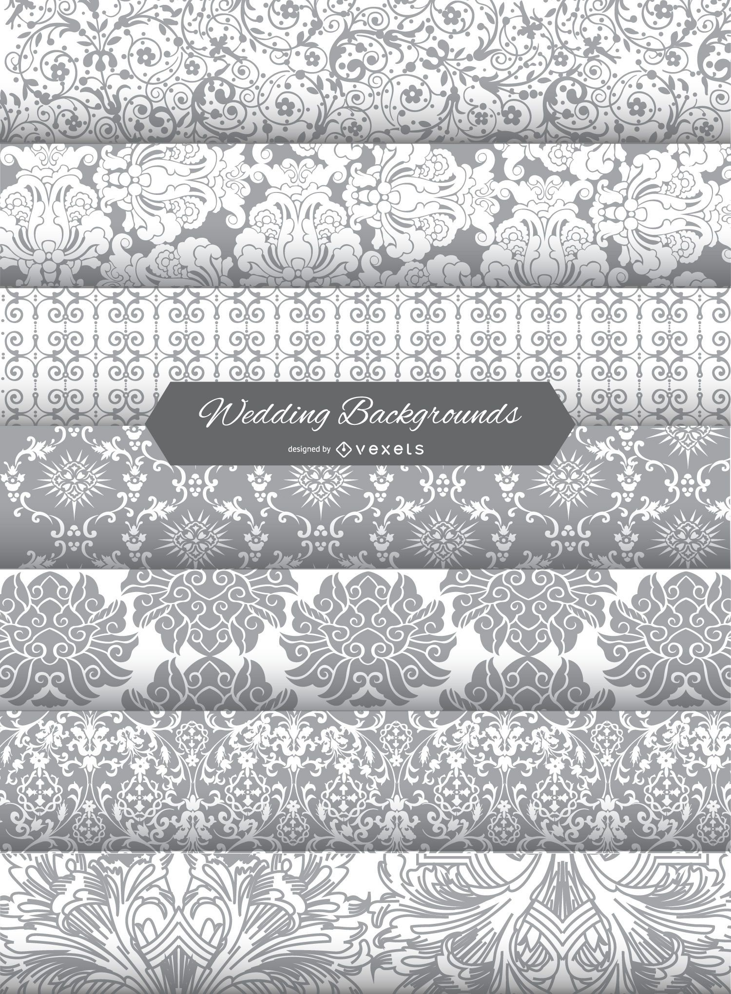Wedding Invitation Background patterns - Vector download