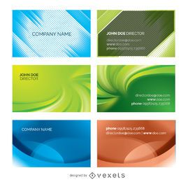 Abstract business cards pack