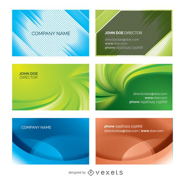 Abstract business cards templates