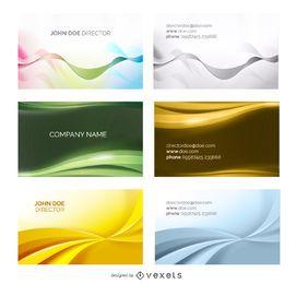 6 conjunto de plantillas de tarjeta de visita abstracta