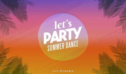 Banner de festa de verão