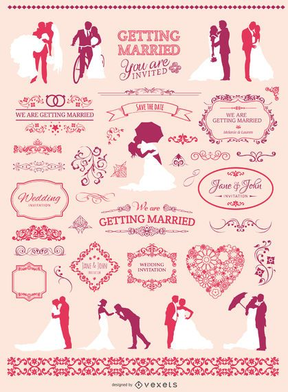 Wedding graphic element set
