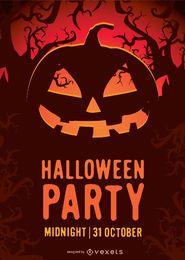 Cartaz do partido de Halloween