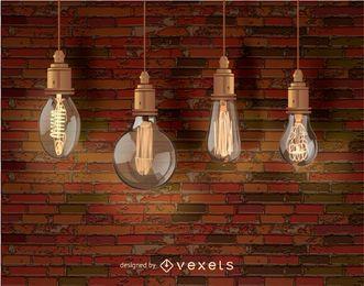 Edison dekorative Glühlampen