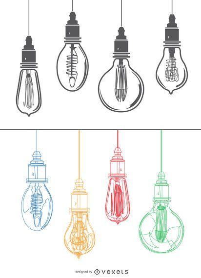 Edison colorful light bulbs