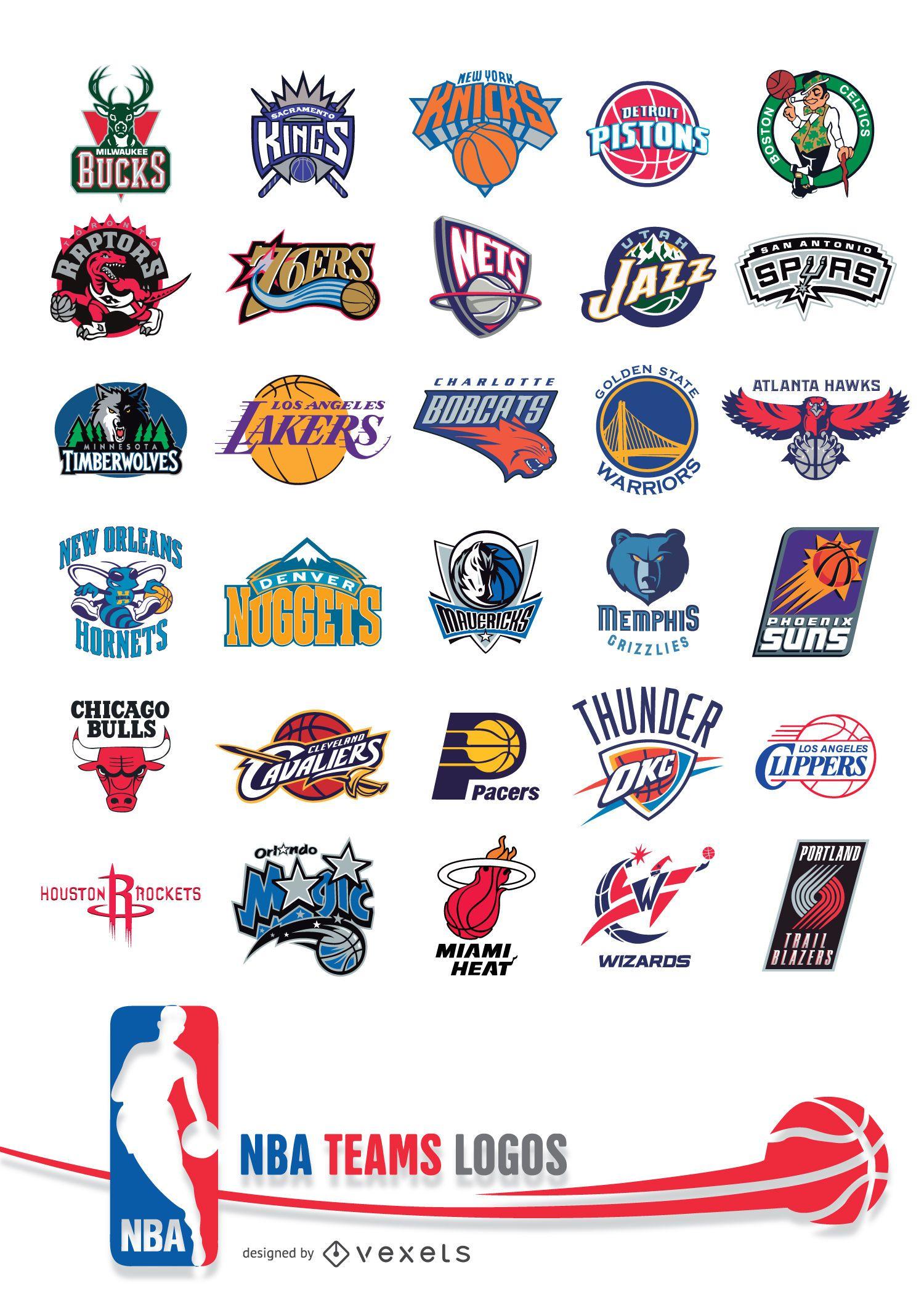 Logotipos das equipes da NBA