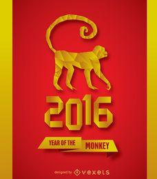 2016 Neujahr Affe