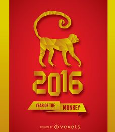2016 New Year Monkey