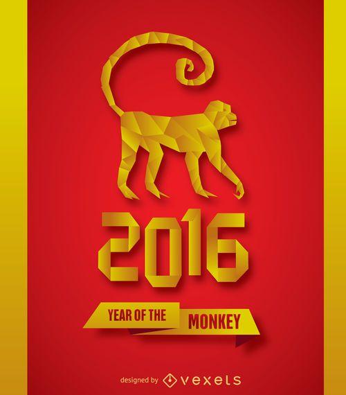 2016 New Year Monkey