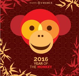 Ano do design do macaco 2016