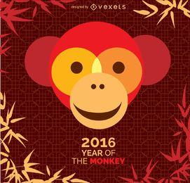 Jahr des Monkey 2016 Designs