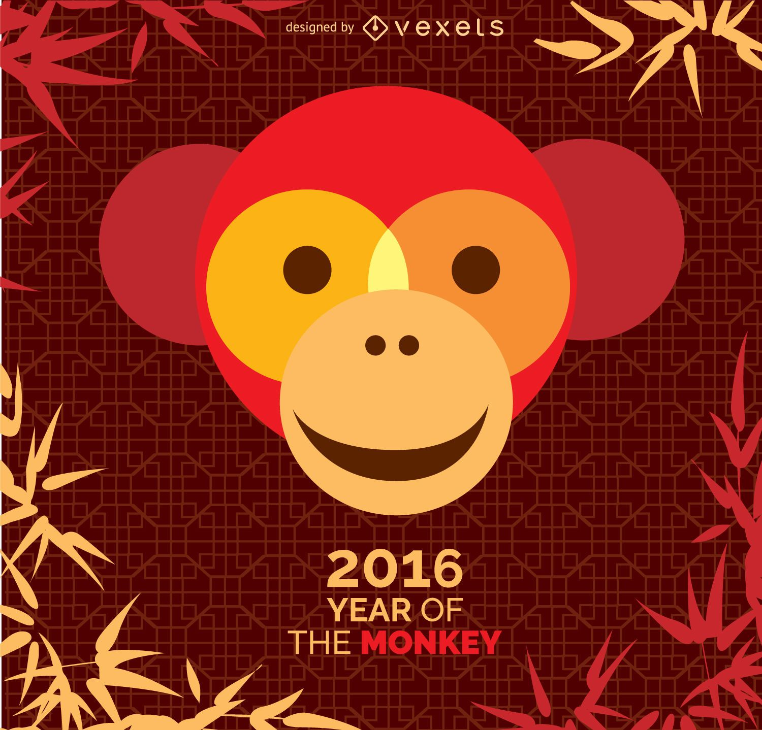 Year of the Monkey 2016 design