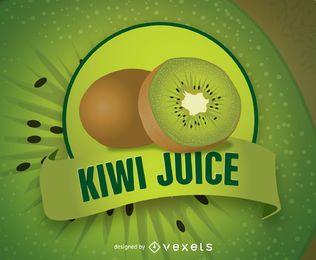 Logotipo de jugo de kiwi