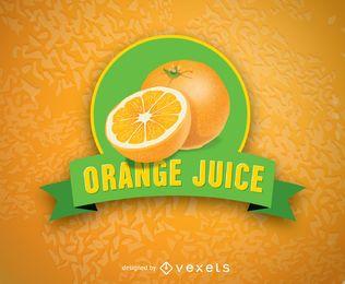 Logotipo de jugo de naranja