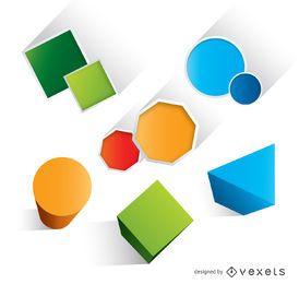 Formas coloridas básicas geométricas