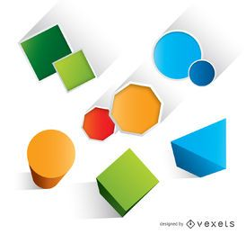 Geometric basic colorful shapes
