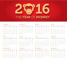 Bandera del año del mono