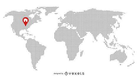 Mapa Pixilated com Localização da Casa