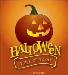 Cartaz de abóbora de Halloween