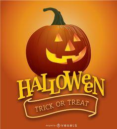 Halloween-Kürbis-Plakat