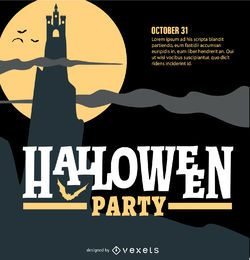Fiesta de halloween diseño retro