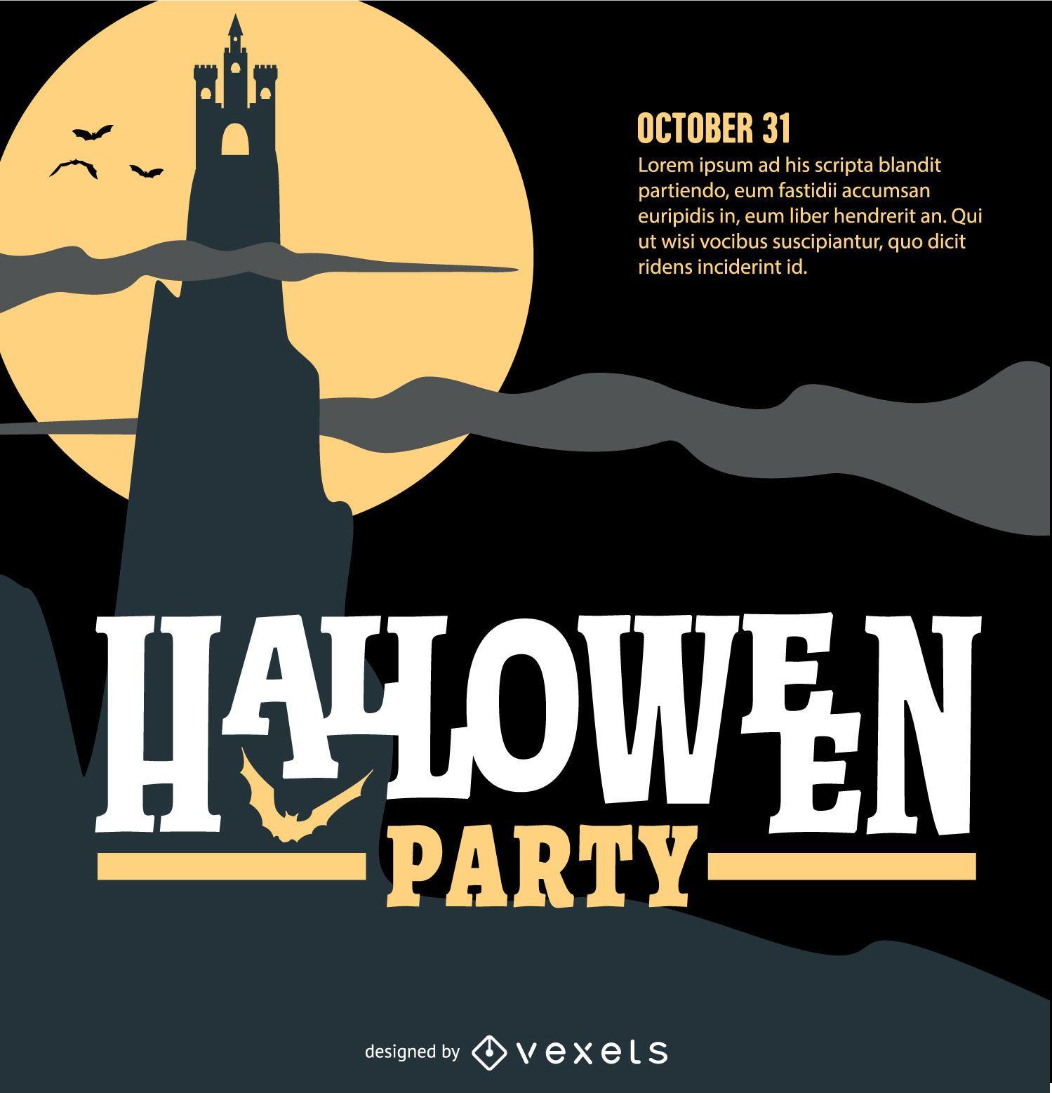 Halloween Party Retro Design